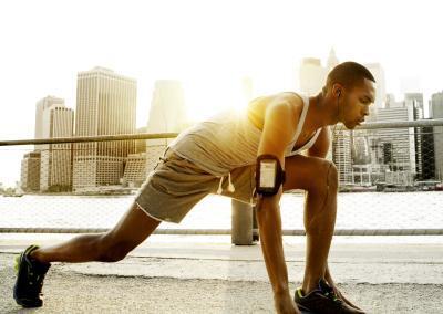 Man running in New York